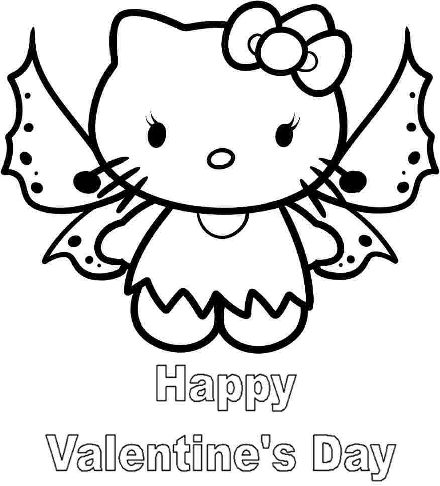 hello kitty valentines day coloring pages free printable hello kitty valentine coloring pages hello day pages coloring valentines kitty
