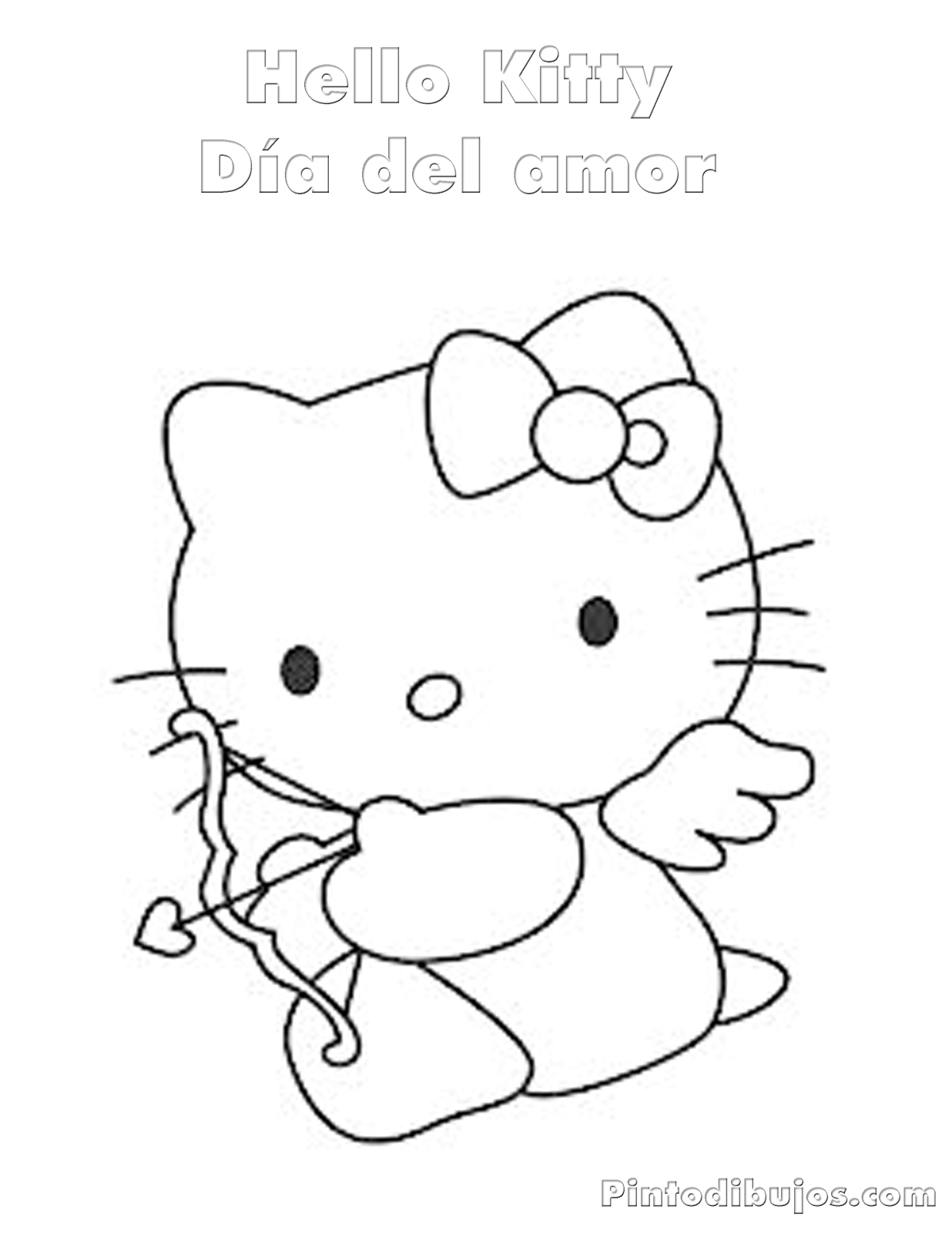 hello kitty valentines day coloring pages free printable hello kitty valentine coloring pages kitty day hello pages valentines coloring