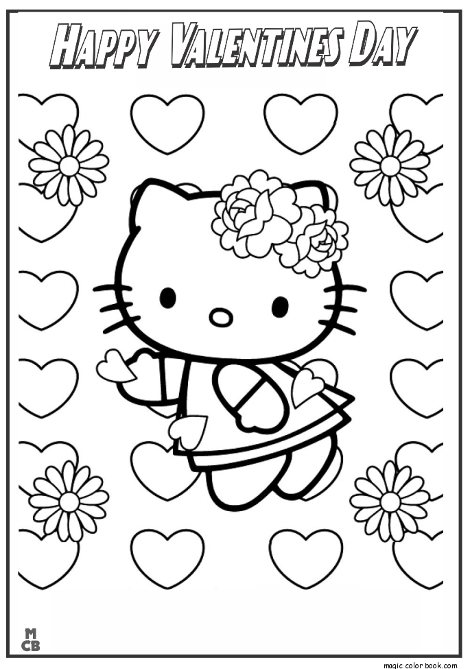 hello kitty valentines day coloring pages hello kitty valentine coloring pages coloring home valentines hello pages day kitty coloring