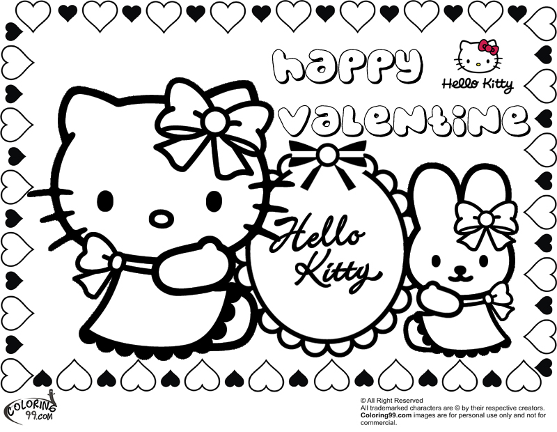 hello kitty valentines day coloring pages hello kitty valentine coloring pages team colors hello pages kitty coloring day valentines