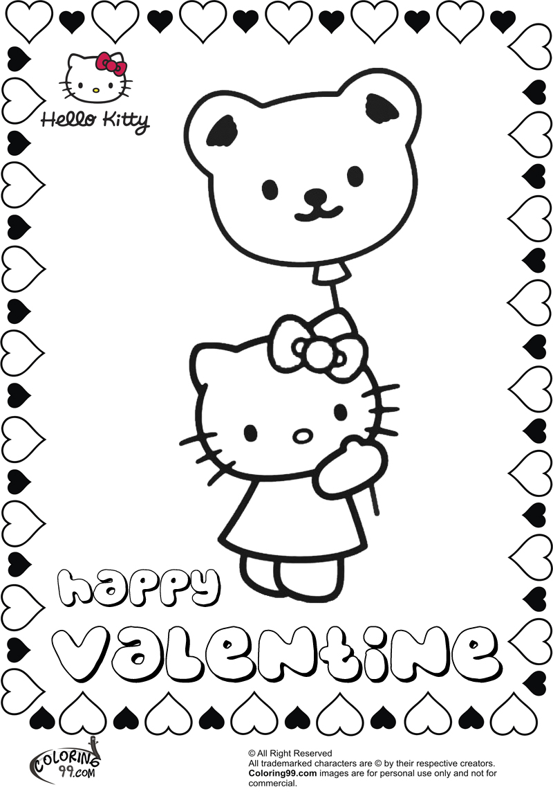hello kitty valentines day coloring pages hello kitty valentines coloring pages hello kitty forever hello day valentines pages kitty coloring