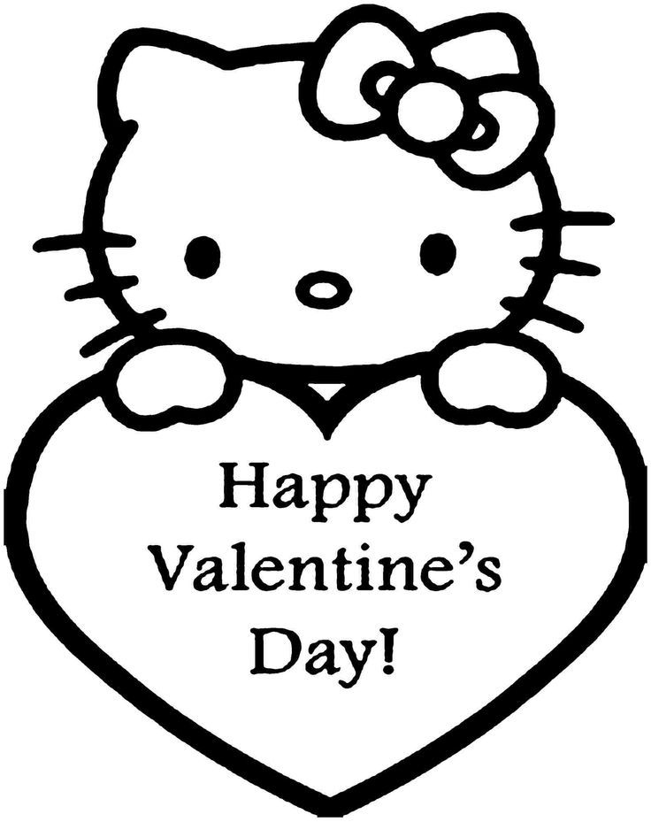 hello kitty valentines day coloring pages hello kitty with valentine39s day heart coloring page kitty hello pages day coloring valentines