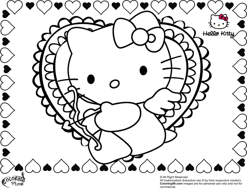 hello kitty valentines day coloring pages team colors valentines kitty pages hello coloring day