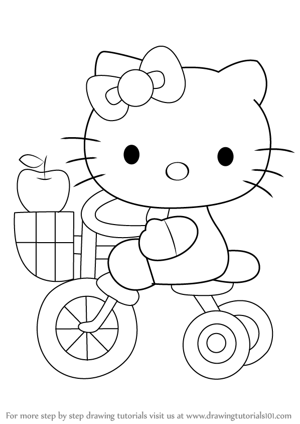 hellokitty drawing face hello kitty how to draw hello kitty youtube hellokitty drawing