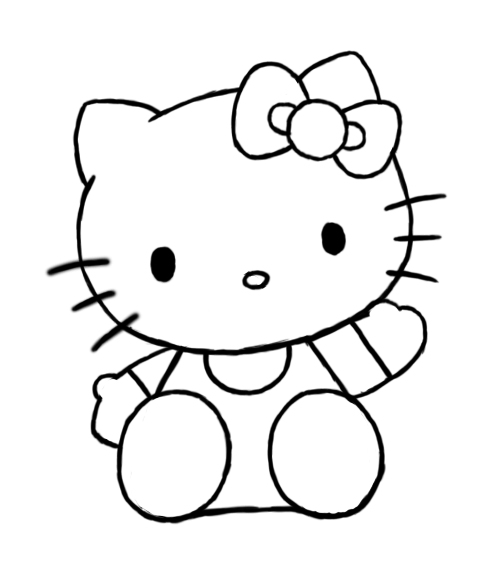 hellokitty drawing how to draw hello kitty draw central drawing hellokitty