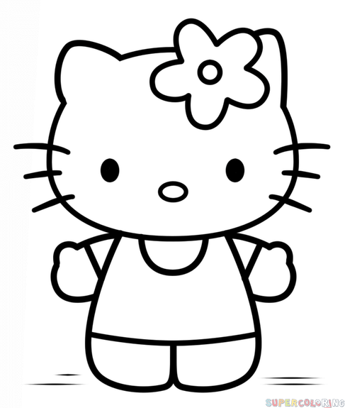hellokitty drawing how to draw hello kitty step by step drawing tutorials hellokitty drawing