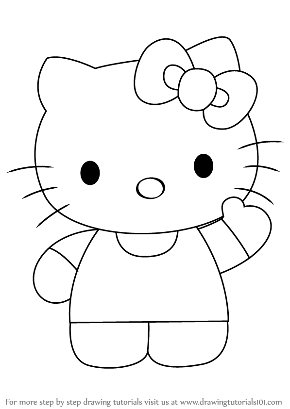 hellokitty drawing learn how to draw hello kitty hello kitty step by step drawing hellokitty