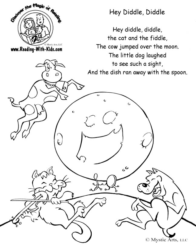hey diddle diddle coloring page hey diddle diddle coloring page free printable coloring diddle hey diddle coloring page