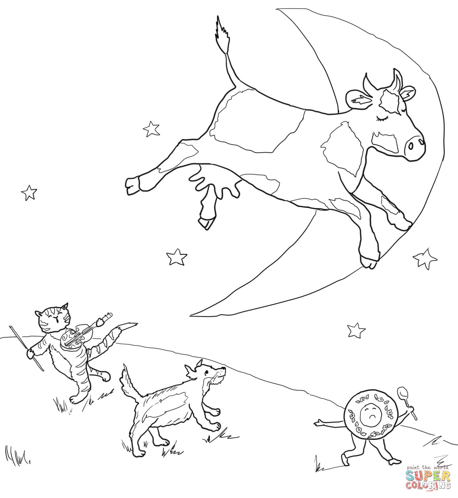 hey diddle diddle coloring page hey diddle diddle nursery rhymes activities nursery page diddle diddle coloring hey