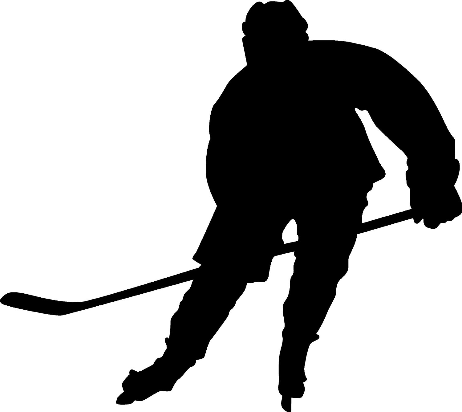 hockey silhouette girl hockey player silhouette at getdrawings free download hockey silhouette
