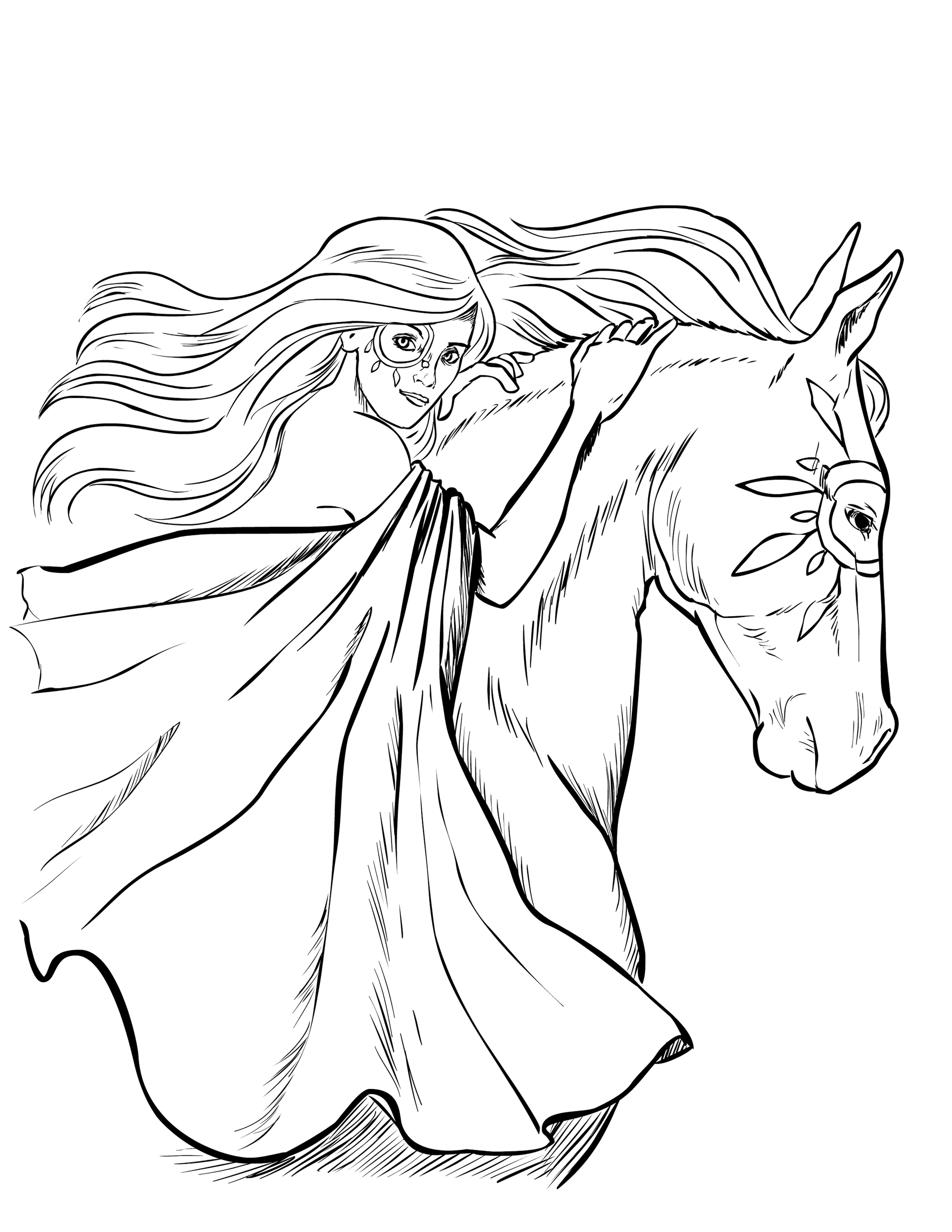 horse coloring pages for girls coloring horses on pinterest horse coloring pages horse girls pages for coloring