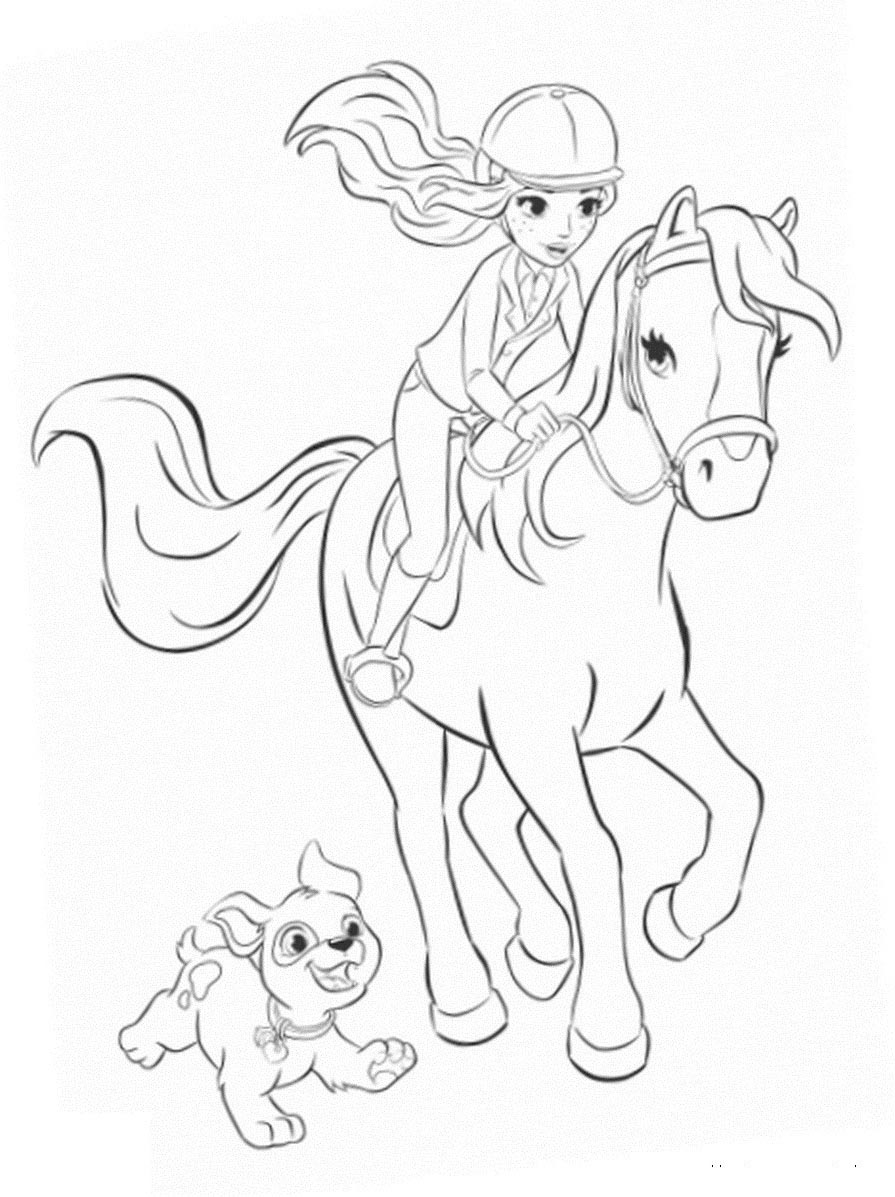 horse coloring pages for girls girl riding horse drawing at getdrawings free download pages girls coloring horse for