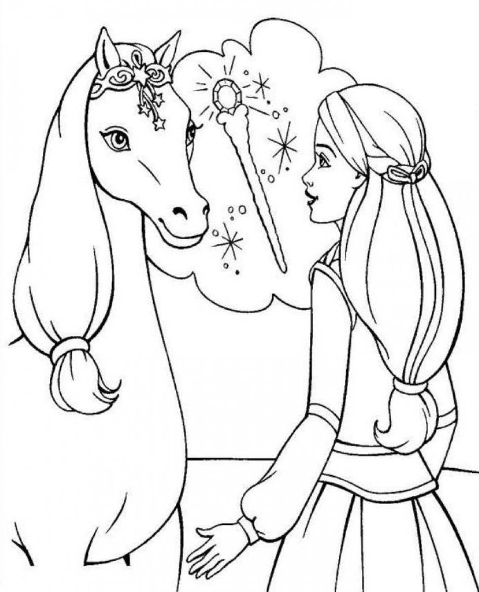 horse coloring pages for girls the amazing world of horses adult coloring book i cindy girls horse for pages coloring