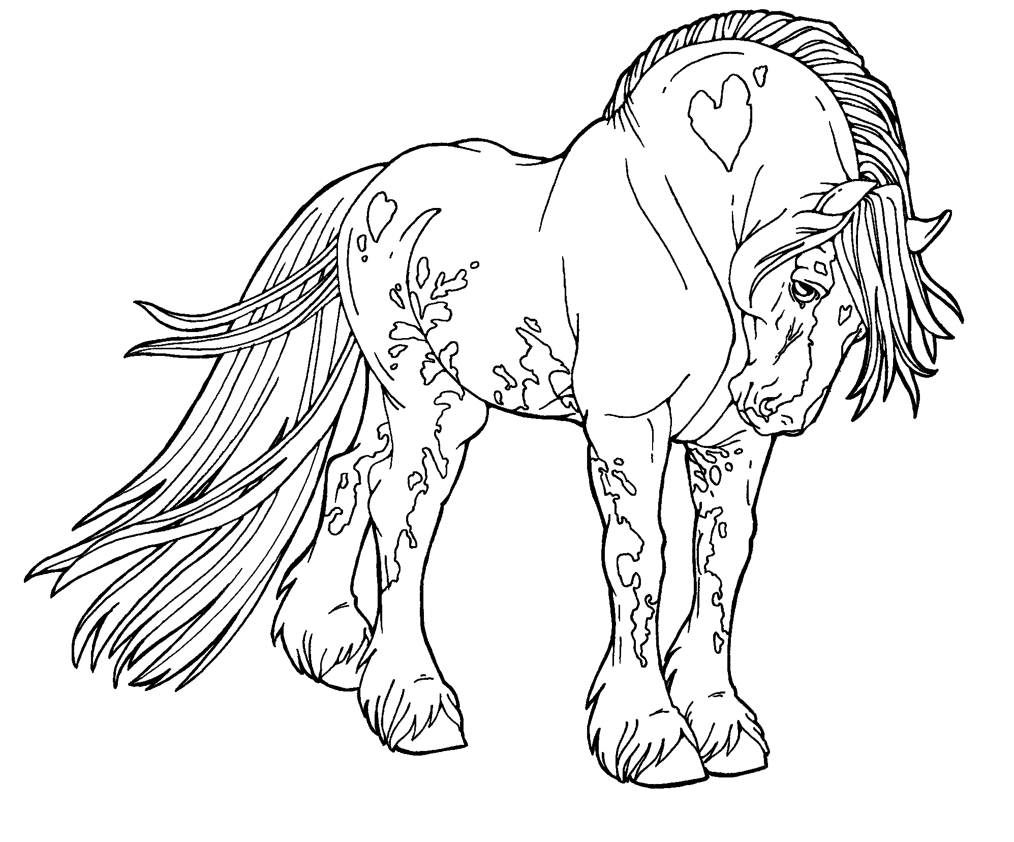 horse coloring pages free free printable horse coloring pages for kids funsoke horse coloring pages free