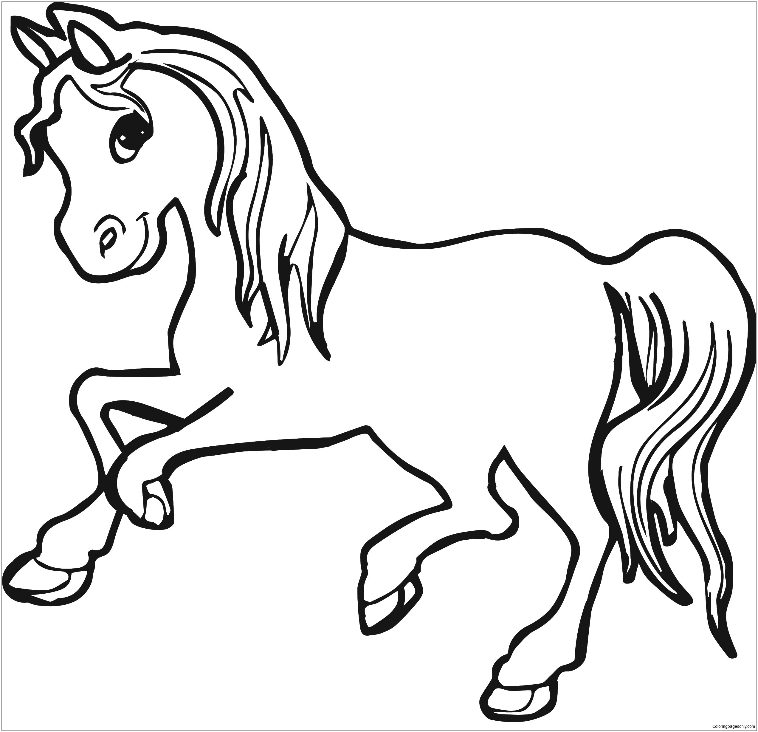 horse coloring pages online horse coloring pages for girls coloring home coloring online horse pages
