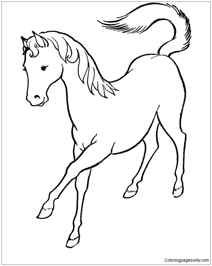 horse coloring pages online horse in field coloring pages printable pages online horse coloring