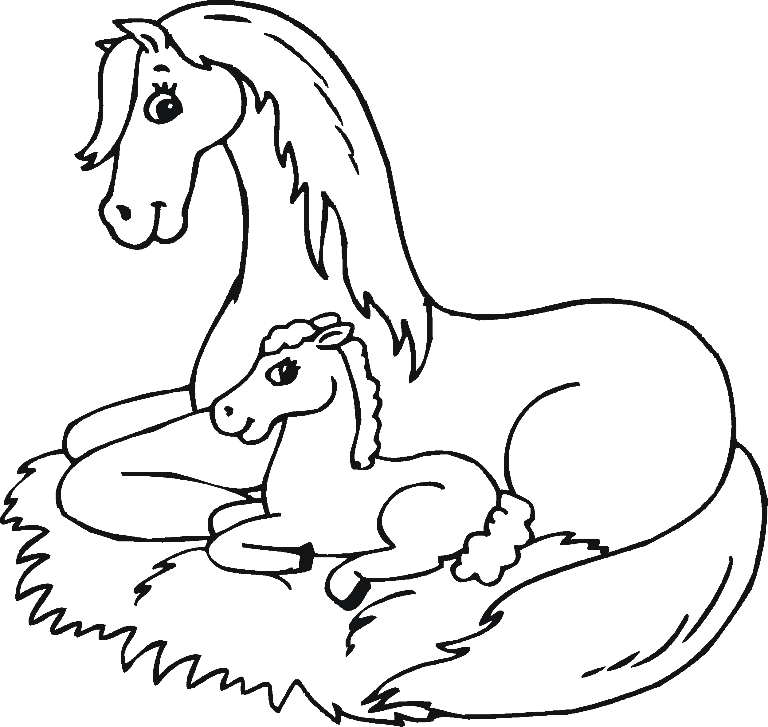 horse pictures to color free horse coloring pages color pictures horse to