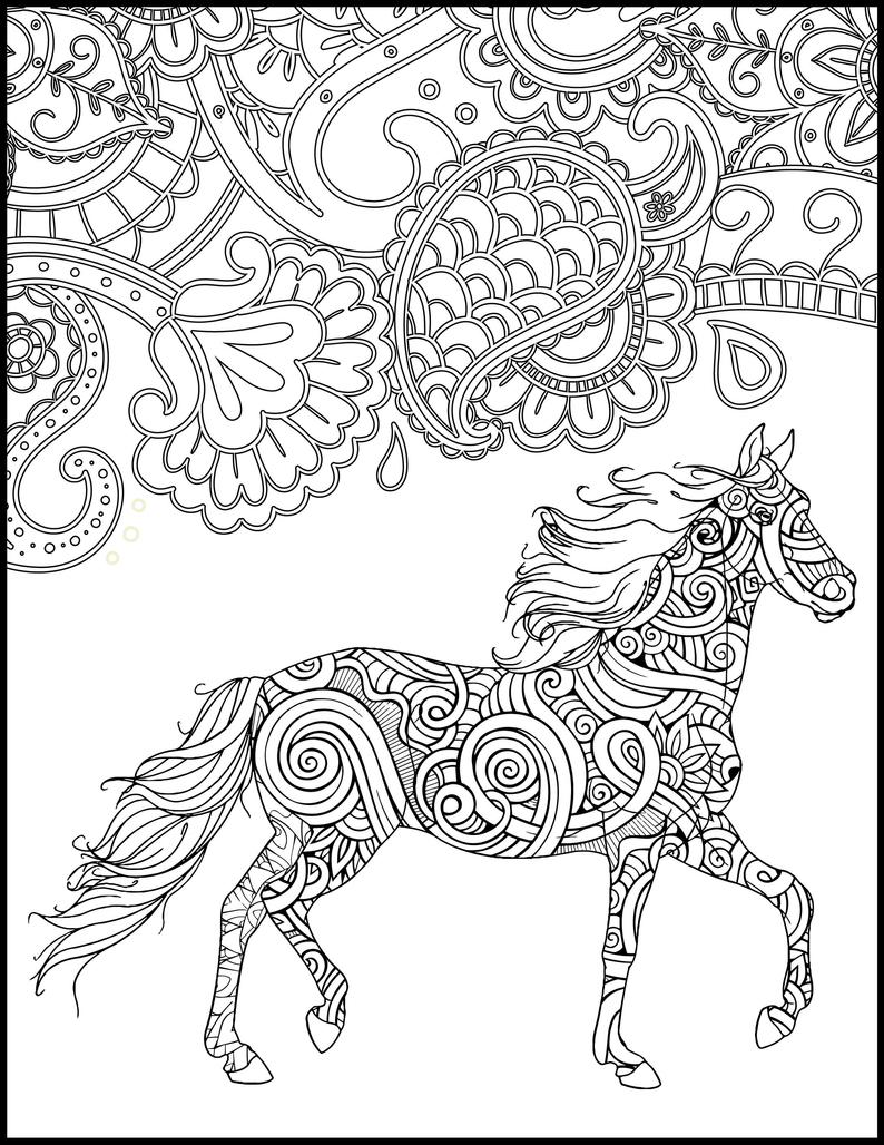 horse printables coloring pages horse zentangle coloring page free printable coloring pages pages printables horse coloring