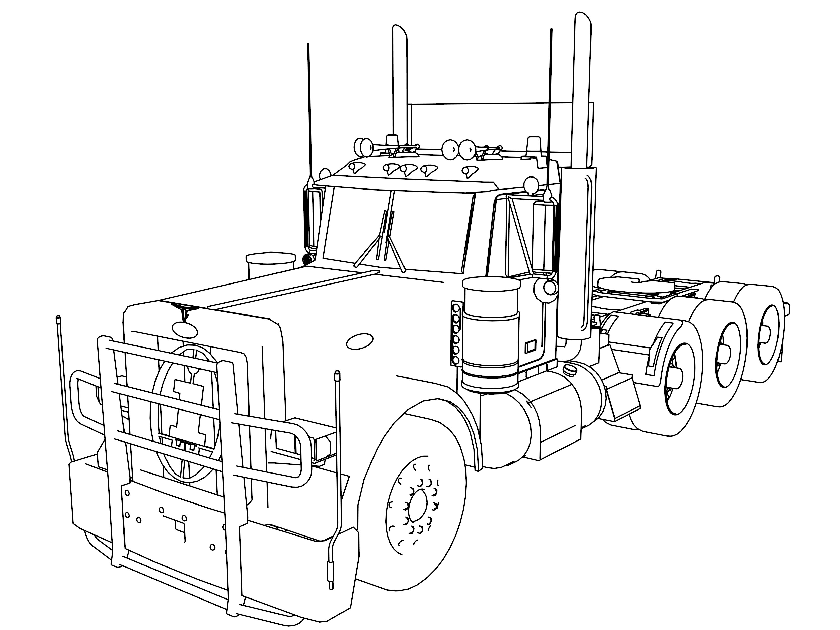 horse trailer coloring pages horse trailer drawing at getdrawings free download trailer pages horse coloring