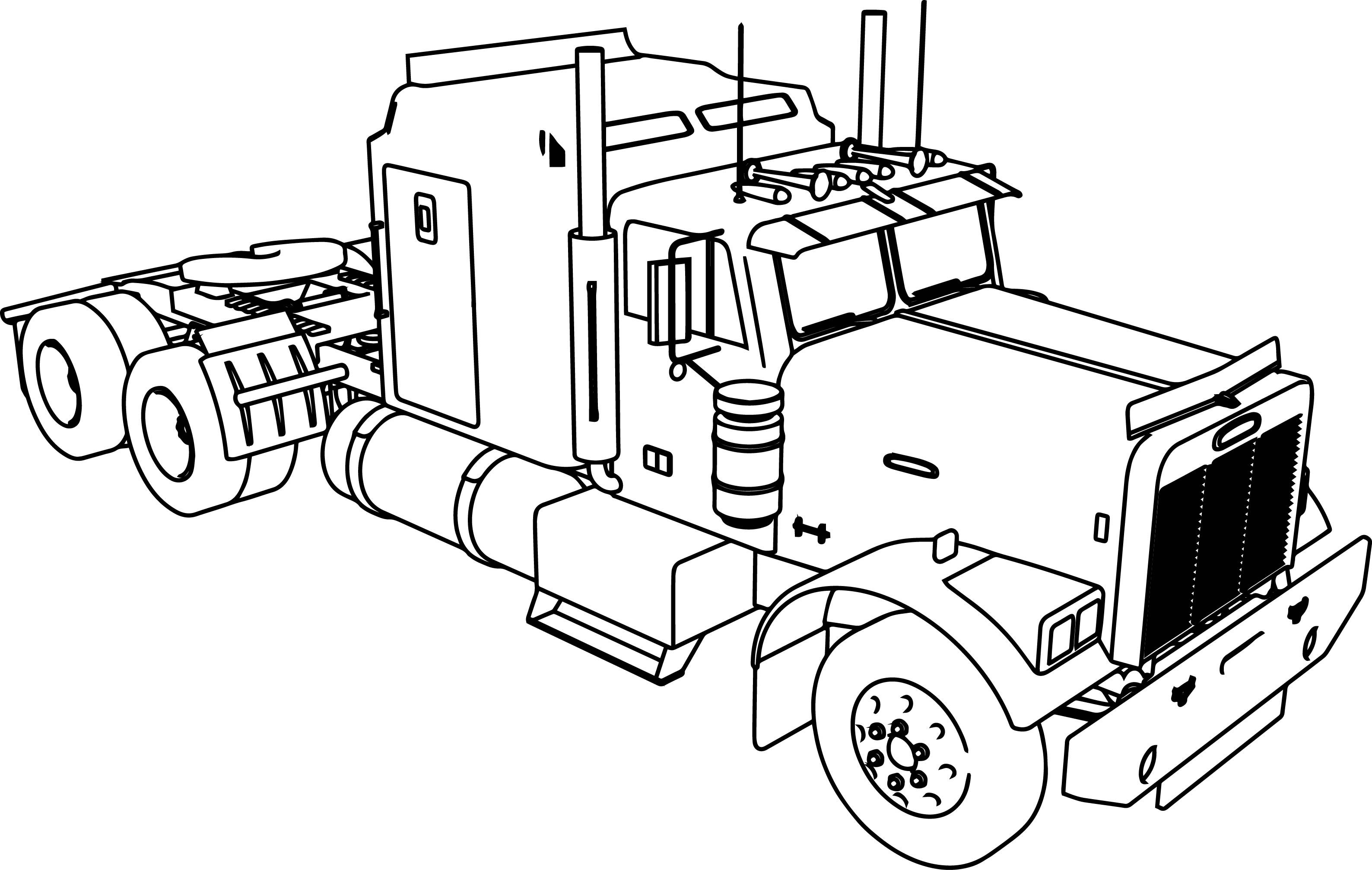 horse trailer coloring pages tractor trailer drawing at getdrawings free download horse pages trailer coloring