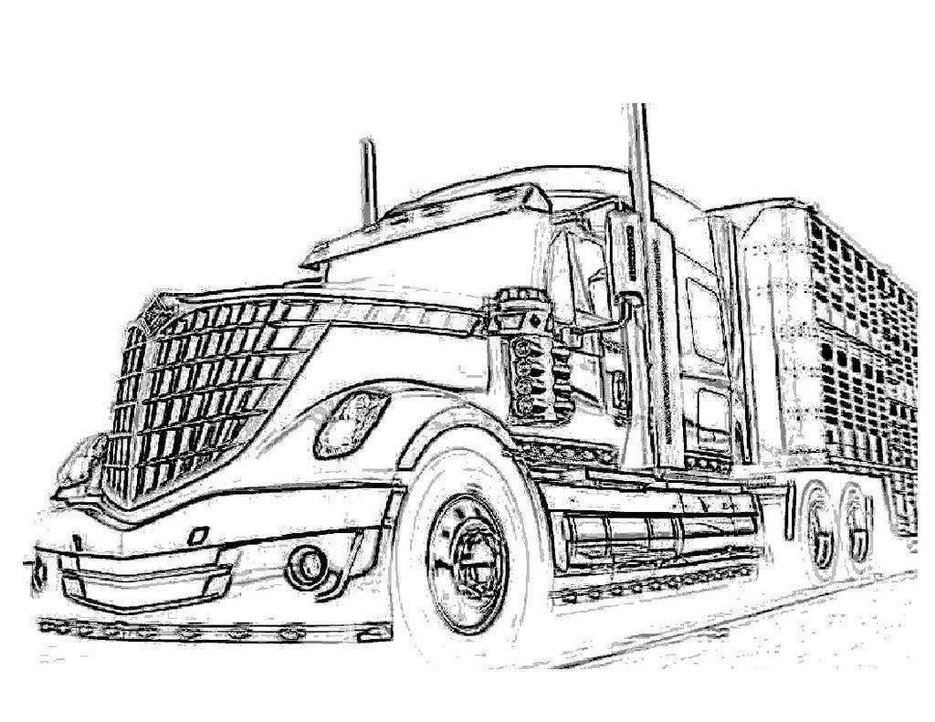 horse trailer coloring pages truck and trailer coloring pages at getcoloringscom trailer coloring pages horse
