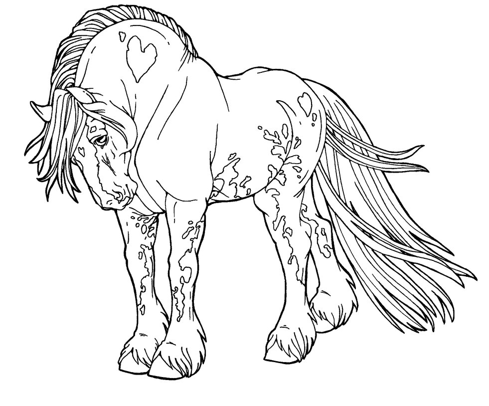 horses color pages horse free to color for children trotting horse horses color pages horses
