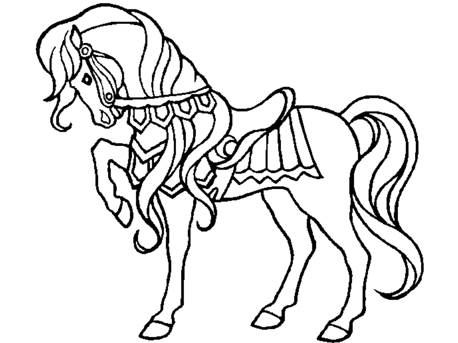 horses to print and color horse with patterns free to color for children horses and horses print to color