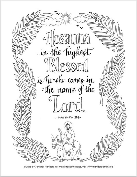 hosanna coloring page palm sunday coloring page clip art library page hosanna coloring