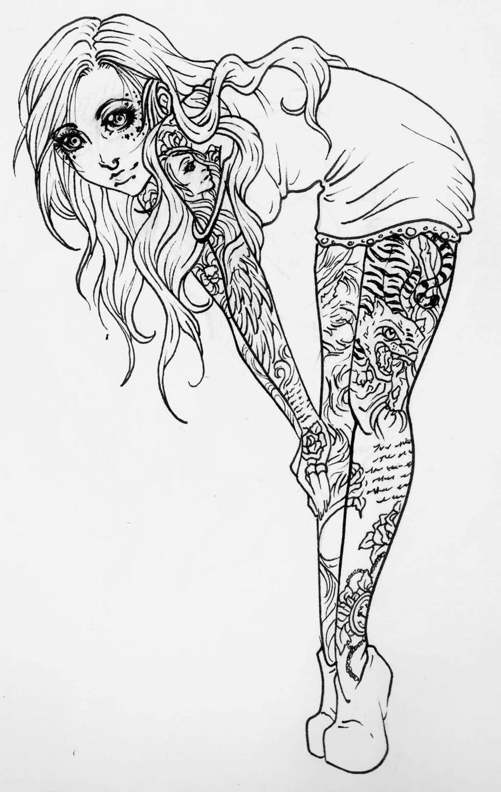 hot girl coloring pages chola girl drawing at getdrawings free download pages girl coloring hot