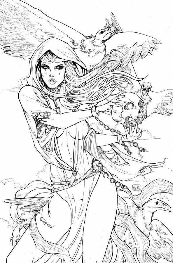 hot girl coloring pages ign39s list of the top 100 comic book villains of all time pages hot girl coloring