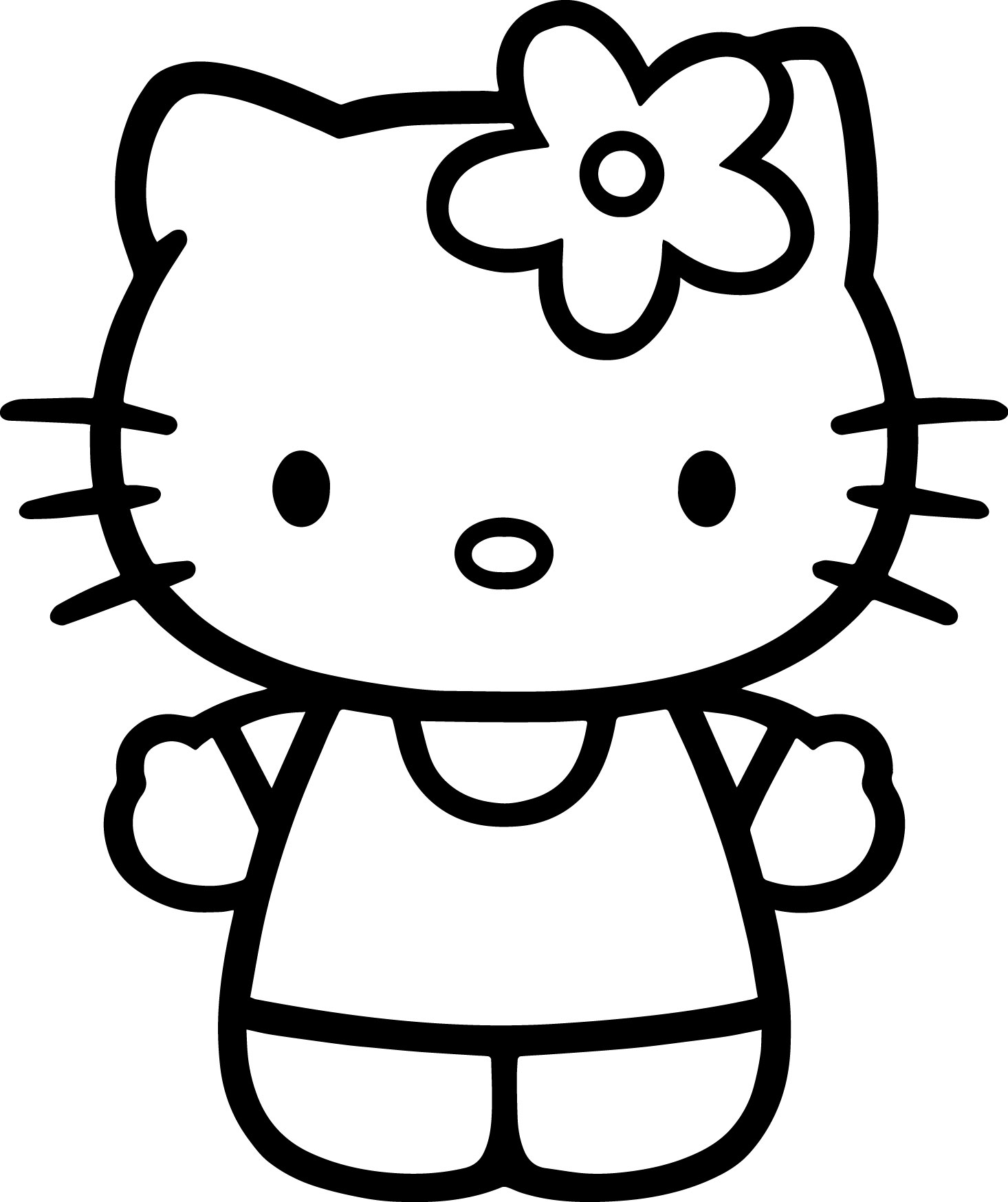 how do you draw hello kitty hello kitty drawing for kids at paintingvalleycom do kitty draw how you hello
