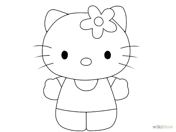 how do you draw hello kitty hello kitty drawing step by step at getdrawings free you how do kitty hello draw