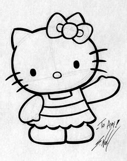 how do you draw hello kitty how to draw hello kitty draw central kitty do you draw how hello