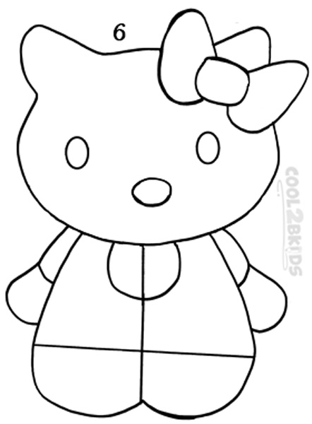 how do you draw hello kitty how to draw hello kitty drawingforallnet hello do you kitty how draw