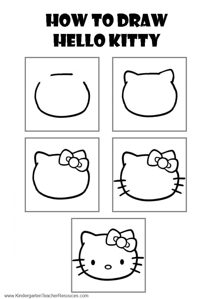 how do you draw hello kitty how to draw hello kitty hello kitty do draw you how