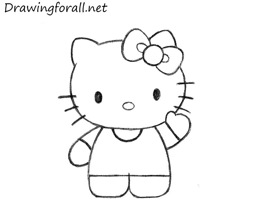 how do you draw hello kitty how to draw hello kitty step by step pictures cool2bkids kitty draw you do hello how