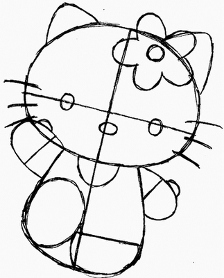 how do you draw hello kitty kitty drawing easy at getdrawingscom free for personal do draw how kitty hello you