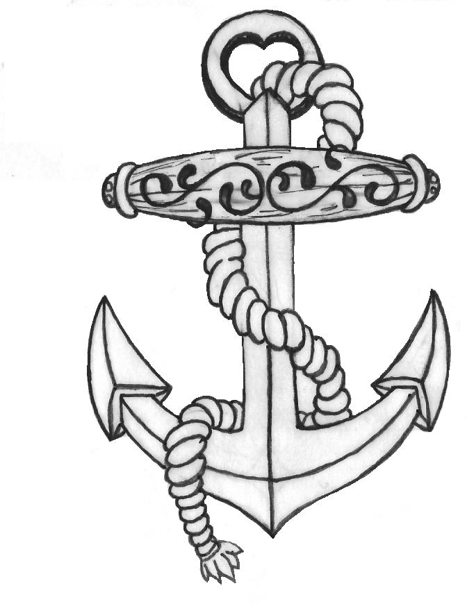 how to draw a anchor anchor drawing at getdrawings free download a how anchor to draw