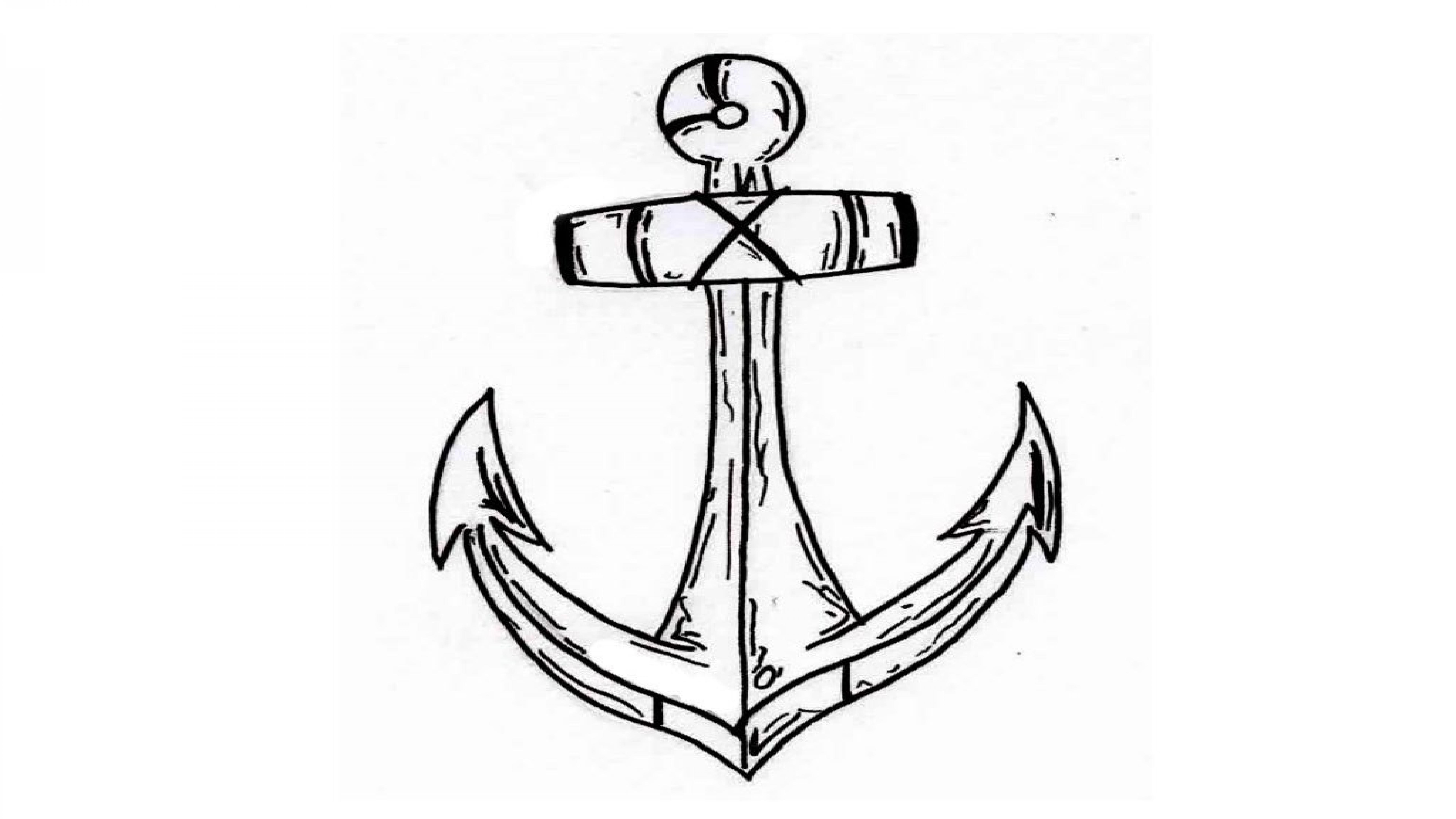 how to draw a anchor anchor drawing at getdrawings free download anchor a how to draw