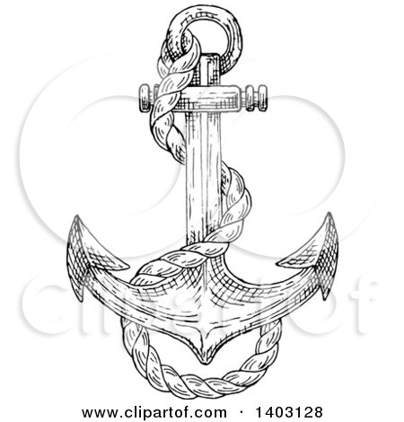 how to draw a anchor anchors drawing at getdrawings free download to draw a how anchor