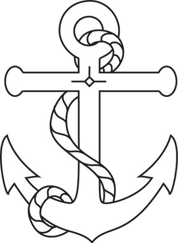 how to draw a anchor design stamp anchor with rope 58 inch x 14 inch to draw how a anchor