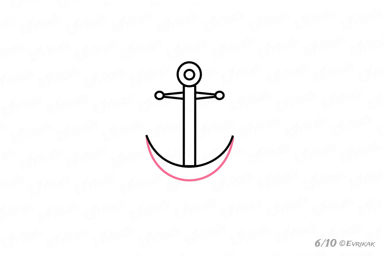 how to draw a anchor how to draw an anchor of the ship in stages using a pencil anchor how a to draw