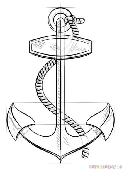 how to draw a anchor how to draw an anchor step by step tattoos pop culture to anchor a draw how