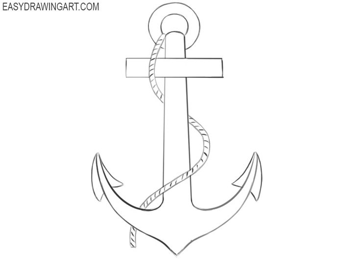 how to draw a anchor how to draw an anchor with images anchor drawings anchor to a draw how