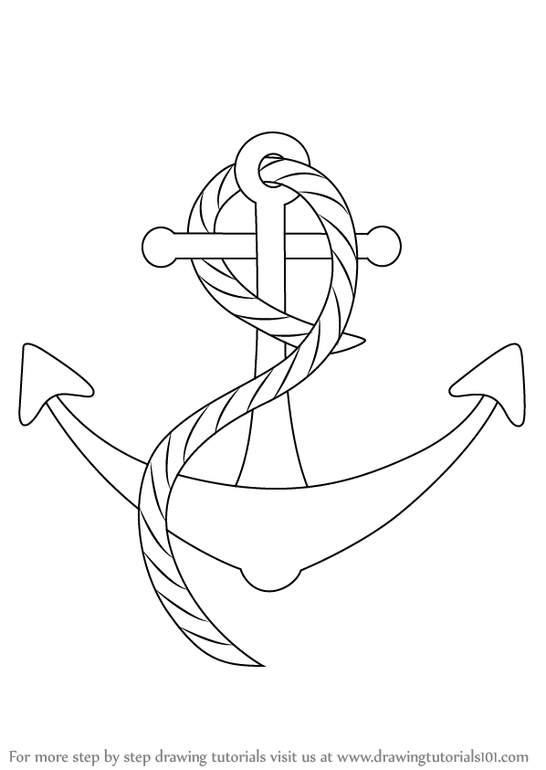 how to draw a anchor simple anchor drawing free download on clipartmag a draw to how anchor