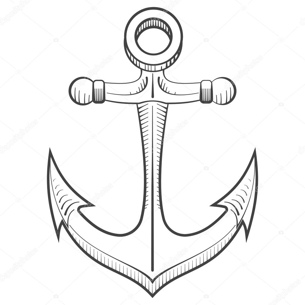 how to draw a anchor vintage anchor drawing at getdrawings free download anchor how draw a to
