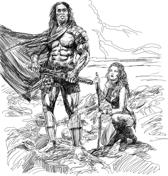 how to draw a barbarian barbarian by dannycruz4deviantartcom on deviantart a to barbarian how draw