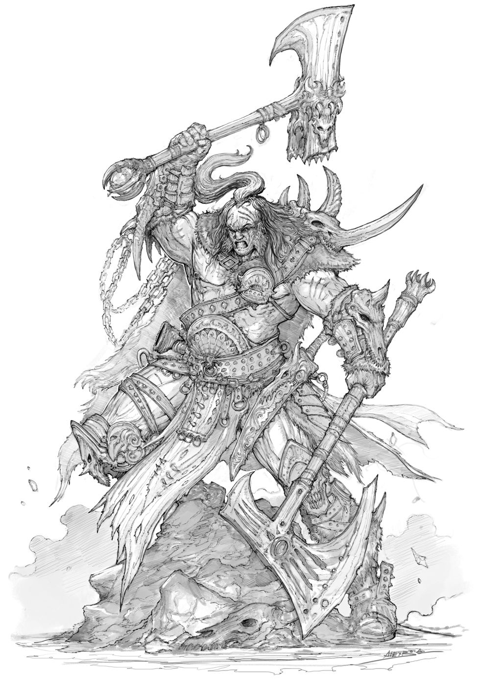how to draw a barbarian barbarian by max dunbar on deviantart barbarian draw to how a