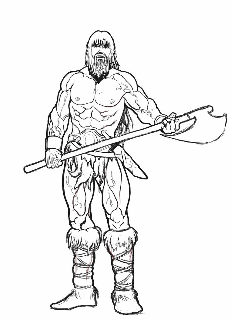 how to draw a barbarian barbarian sketch by malverro on deviantart a how barbarian draw to