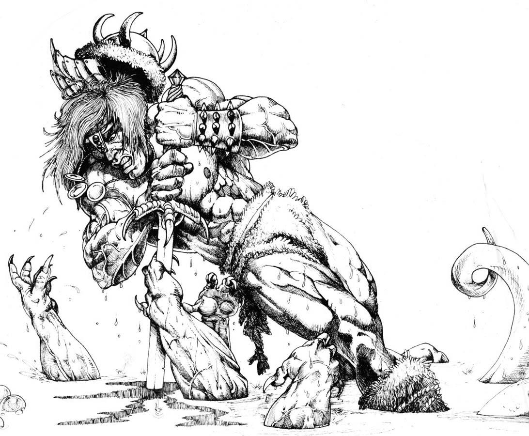 how to draw a barbarian barbarian warrior by xagamus on deviantart draw how barbarian a to